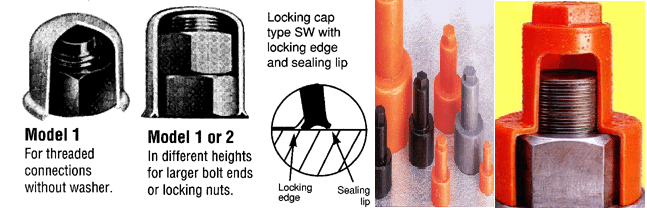 nut protection cap and bolt protection cap